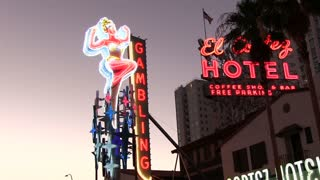 Popular neon signs in downtown Fremont Street