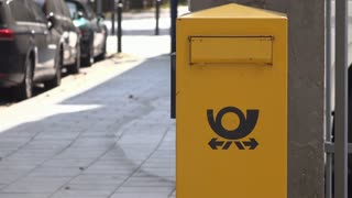 Post office drop mail box in Germany 4k