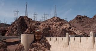 Power Grid above Hoover Dam on Nevada side 4k