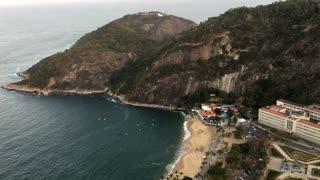 Praia Vermelha beach seen from above 4k