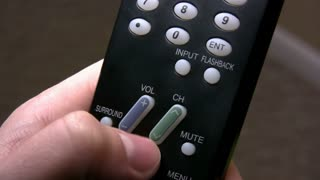 Pressing Buttons on TV Remote