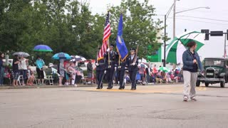 Proud ROTC group in July 4th parade 4k