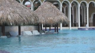 Quiet pool area in private resort