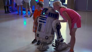 R2-D2 Star Wars character at Air Force Museum 4k