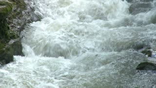 Rapid Water Flowing in River