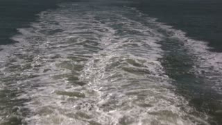 Rear View of Waves created by Boat