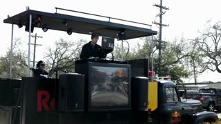 Red Bull Promotional DJ at Endymion Parade