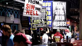 Religious activists on Bourbon street 2012