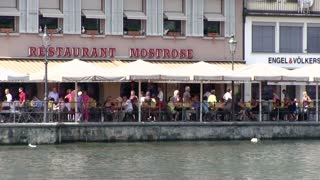 Restaurants along water in Lucerne