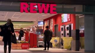 Rewe supermarket store in Berlin