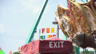 Rides at carnival in motion 4k
