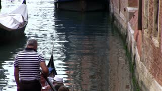 Riding on Gondola in Venice Italy