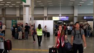 Rio de Janeiro airport 2016 Olympics establishing shot