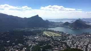 Rio de Janeiro city seen from mountain top