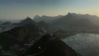 Rio de Janeiro seen from  Sugarloaf Mountain 4k