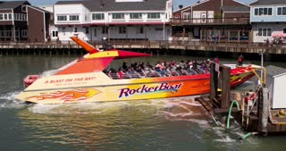 Rocket Boat tour in San Francisco leaving pier 4k.