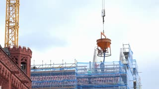 Roemer construction in downtown Frankfurt Germany 4k