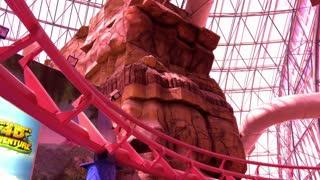 Roller Coaster in Circus Circus park Las Vegas