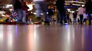 Roller skating rink and skaters