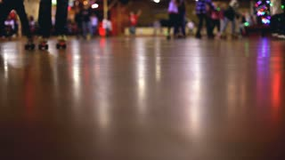 Roller Skating rink floor view