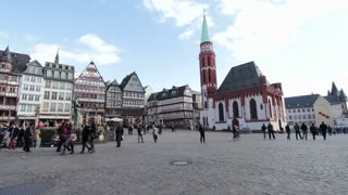 Romer square in Frankfurt Germany