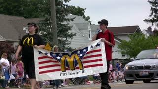 Ronald McDonald in Parade