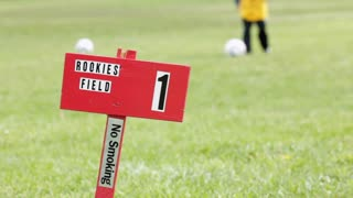 Rookies field sign on Kids Soccer Field