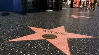 Roseanne star on walk of fame