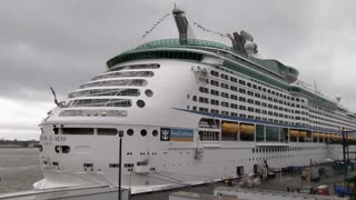 Royal Caribbean Cruise ship at New Orleans port
