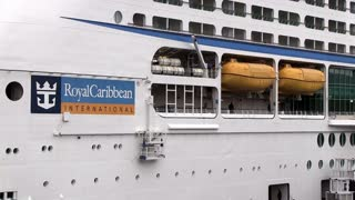 Royal Caribbean Cruise Ship being loaded