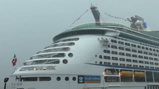 Royal Caribbean ship in thunderstorm