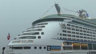 Royal Caribbean ship in thunderstorm