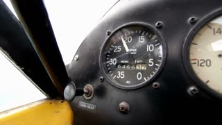 RPM gauge of Airplane whlie flying