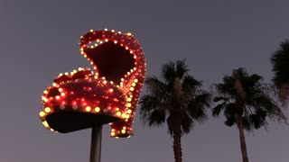 Ruby Slipper Las Vegas rotating marquee