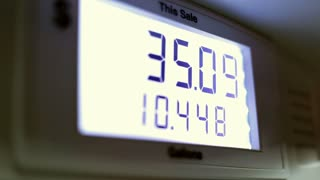 Sale numbers at gas pump going up