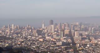 San Francisco City seen from above 4k