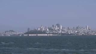 San Francisco city slow motion from water