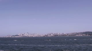 San Francisco seen from water slow motion