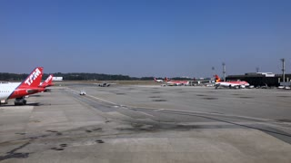 Sao Paulo Guarulhos International Airport With Planes Preparing For Flight 4 K