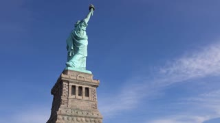 Satue of Liberty in the United States welcoming people to the New World 4k