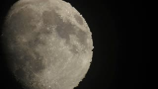 Scrambled signal video of moon
