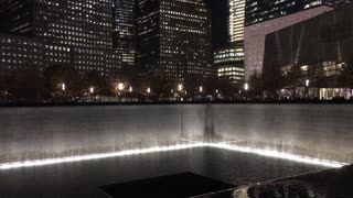 September 11th memorial in NYC at night 4k