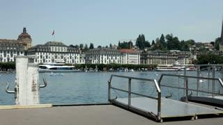 Ship dock station in Switzerland