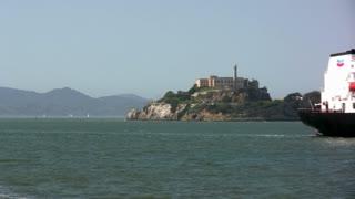 Ships in front of Alcatraz