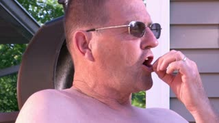 Shirtless Old Man in Sun 720p