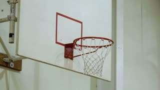 Shot in Basketball Game misses Rim
