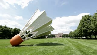 Shuttlecock in front yard of Nelson-Atkins Museum of art