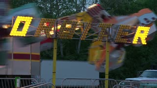Side View of Orbiter Ride at Carnival