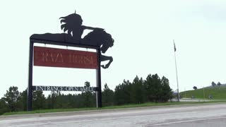 Sign at entrance of Crazy Horse Memorial
