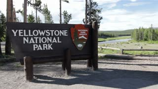 Sign entering Yellowstone national park